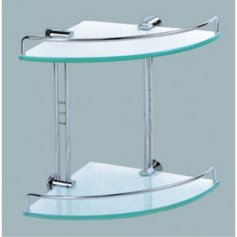 Double Corner Glass Shelf