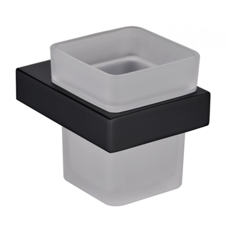 Cube Black Single Tumbler