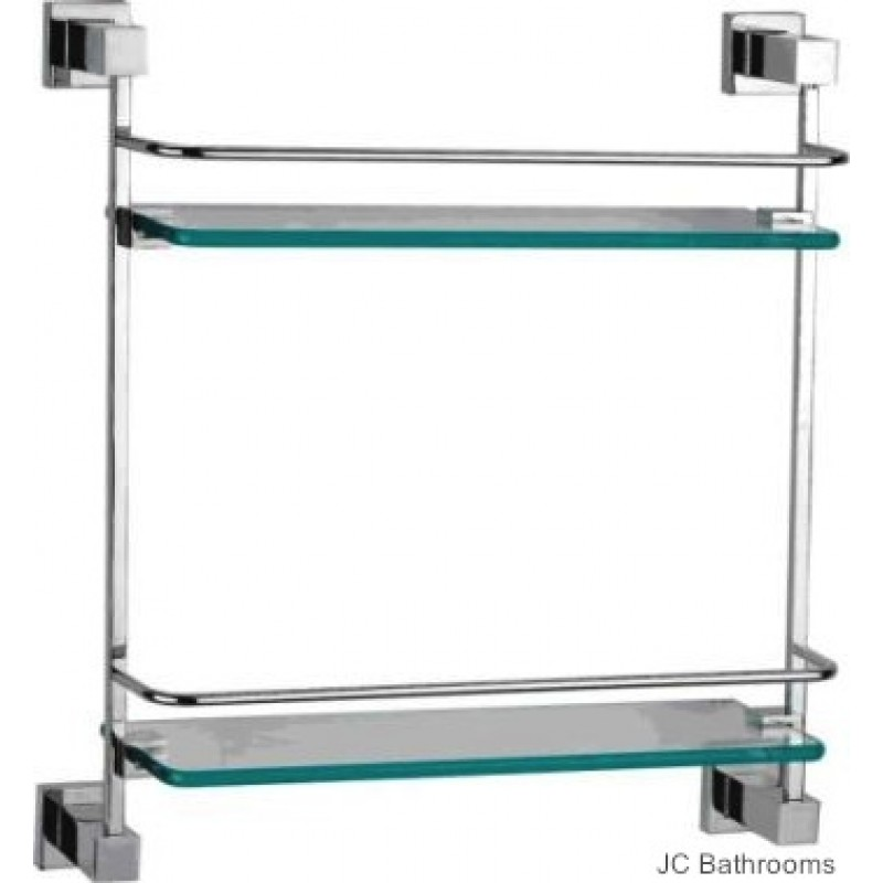 Crystal Double Glass Shelf