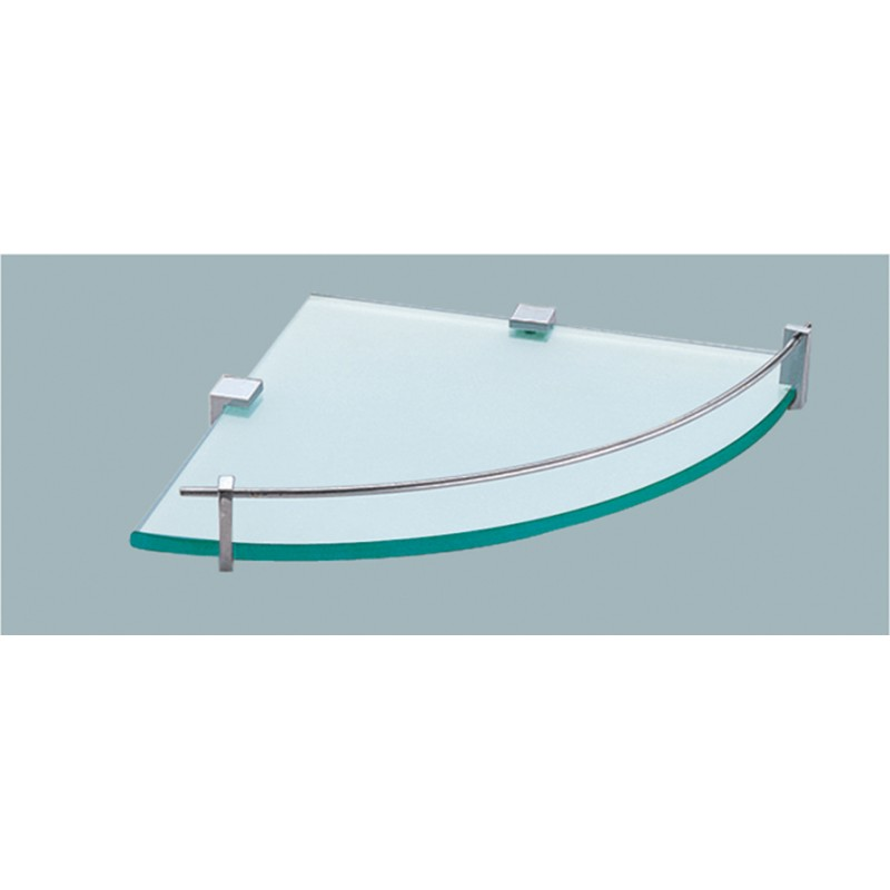 Corner Glass Shelf 200mm