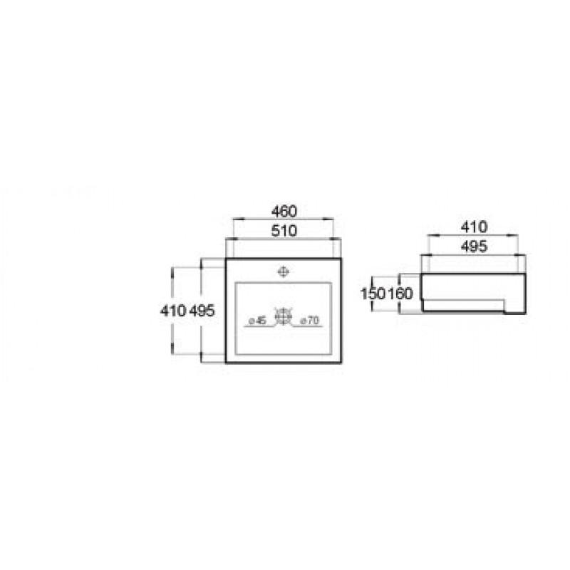 Semi Recessed Basin - B207