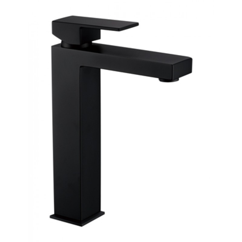 Crystal Black Tall Basin Mixer