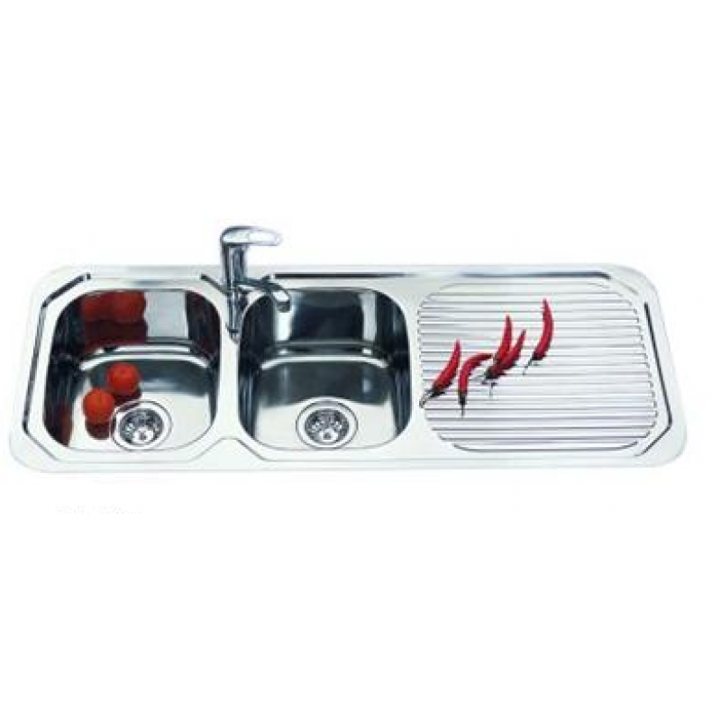 Double Bowl Kitchen Sink - 1180x480mm