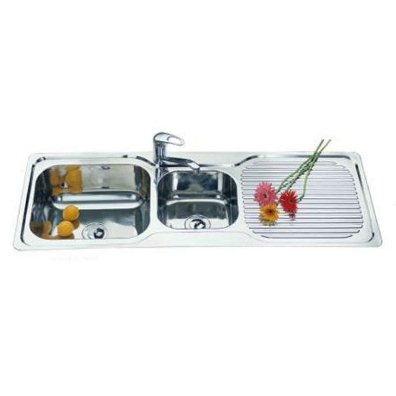 One and Half Bowl Kitchen Sink - 1225x470mm
