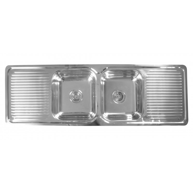 Double Bowl Double Drainer Kitchen Sink