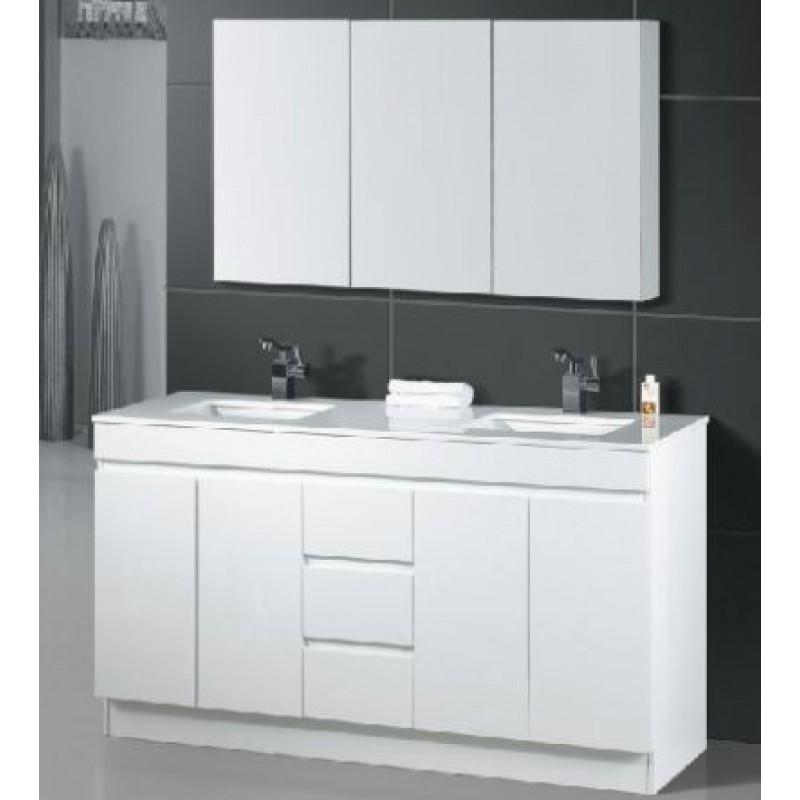 Gemini Kickboard 1500mm Vanity - White